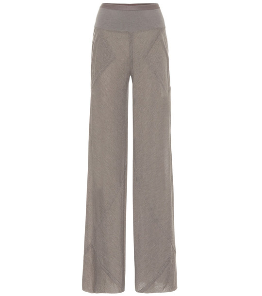 Rick Owens Flared pants in grey