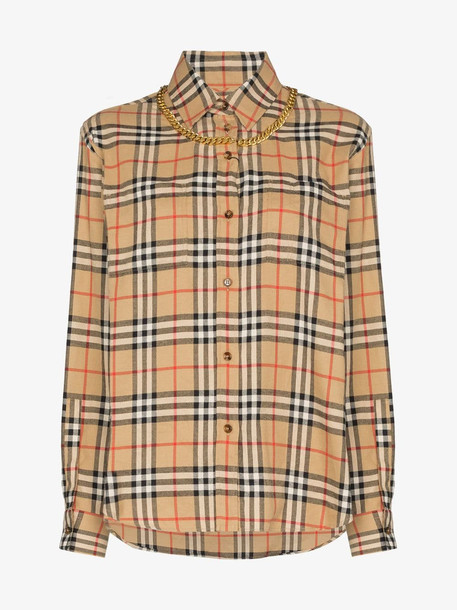 Burberry Vintage Check shirt with chain in brown