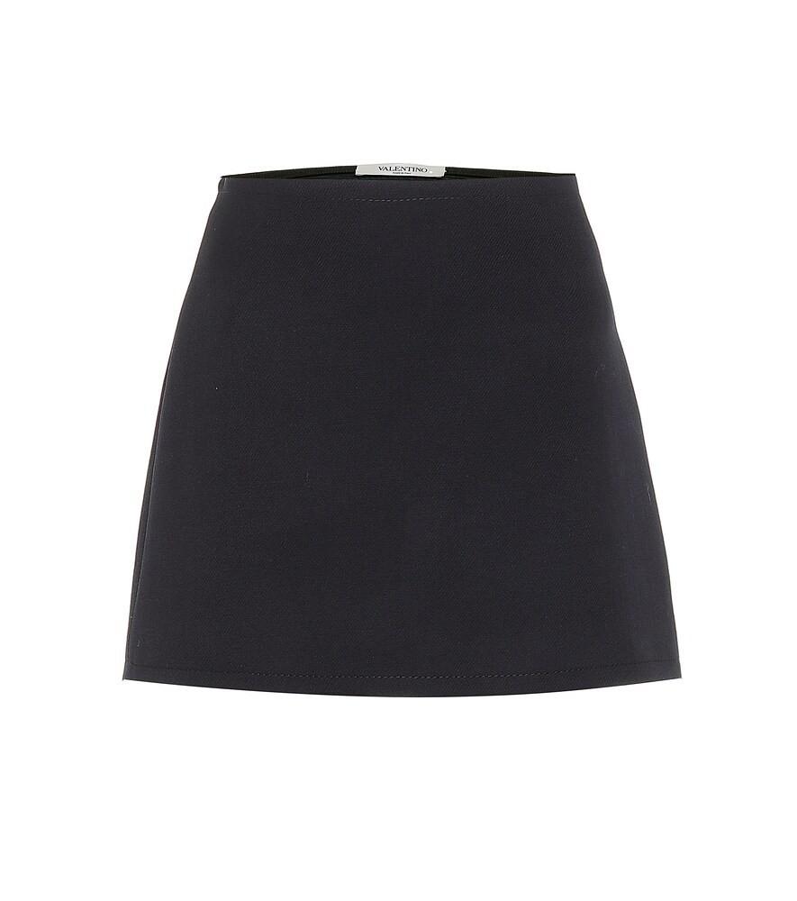 Valentino Wool miniskirt in blue