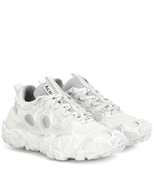 Acne Studios Boltzer leather sneakers in white