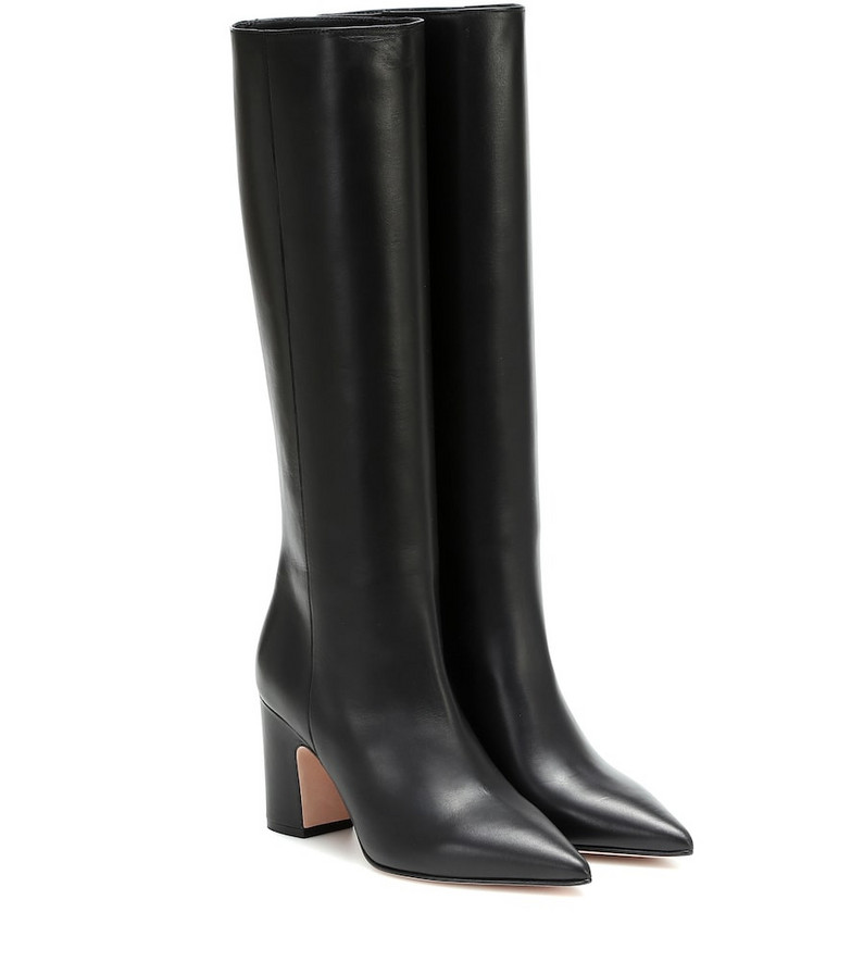 RED (V) RED (V) knee-high leather boots in black