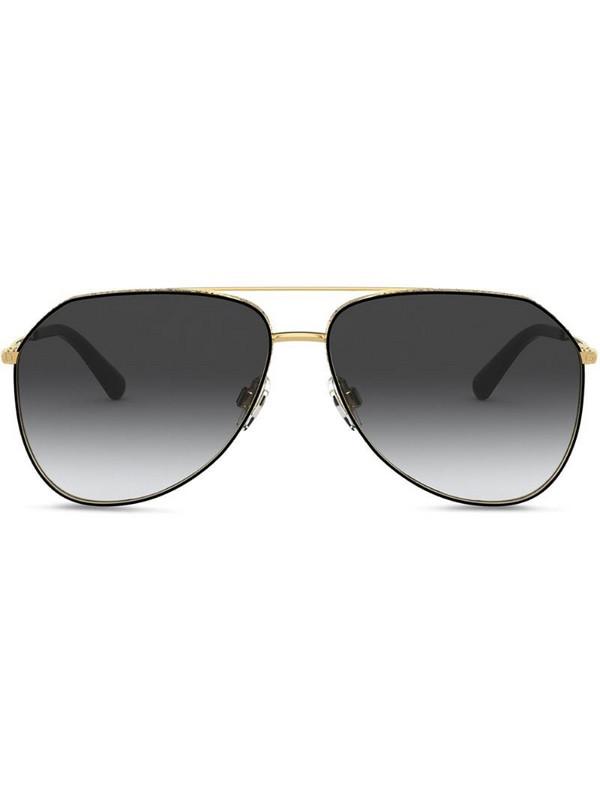 Dolce & Gabbana Eyewear Slim aviator-frame sunglasses in black