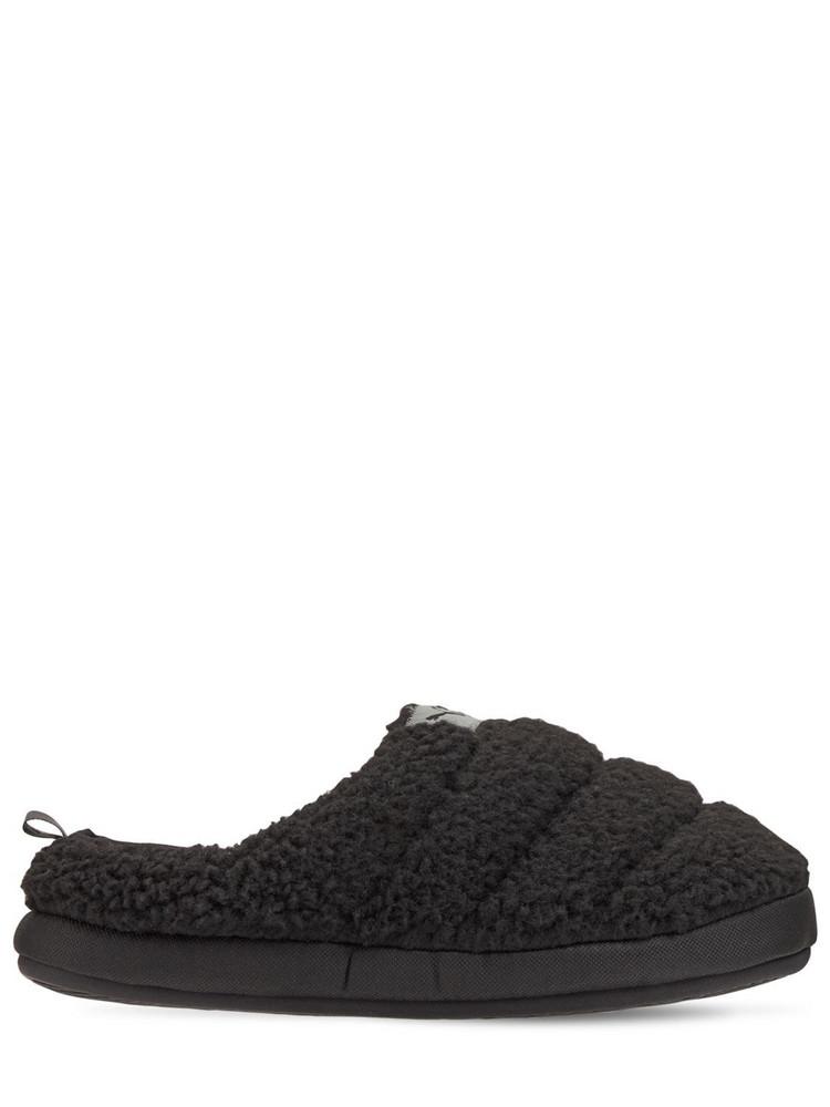 PUMA Scuff Sherpa Slippers in black