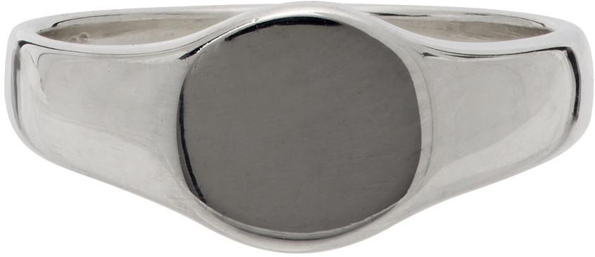 Saskia Diez Round Signet Ring in silver