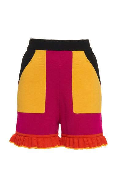 Victor Glemaud Sb Merino Wool Mini Shorts Size: XS in multi