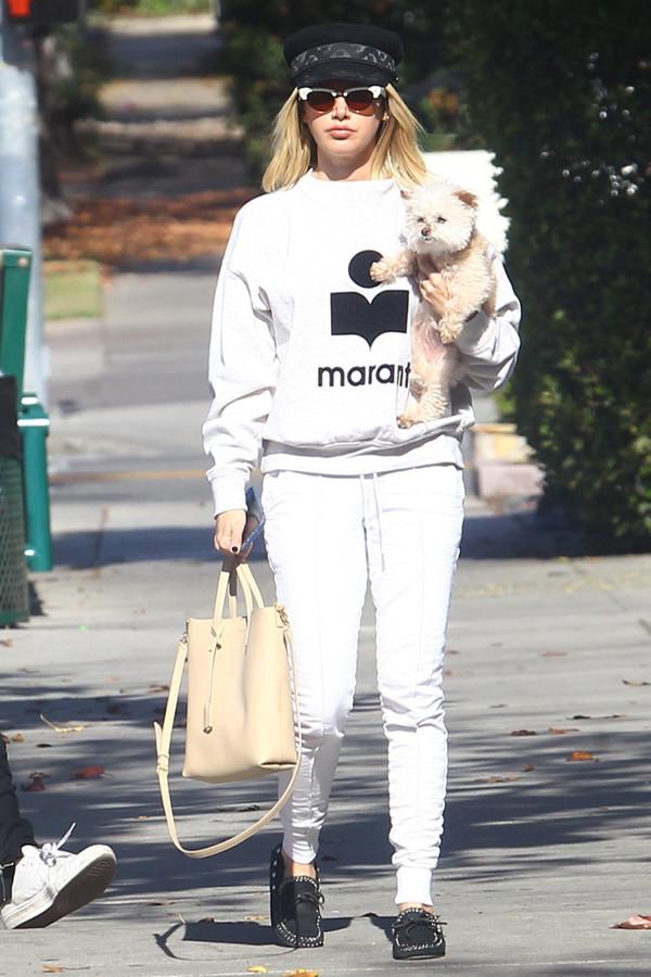 sweater sweatshirt sweatpants ashley tisdale casual celebrity
