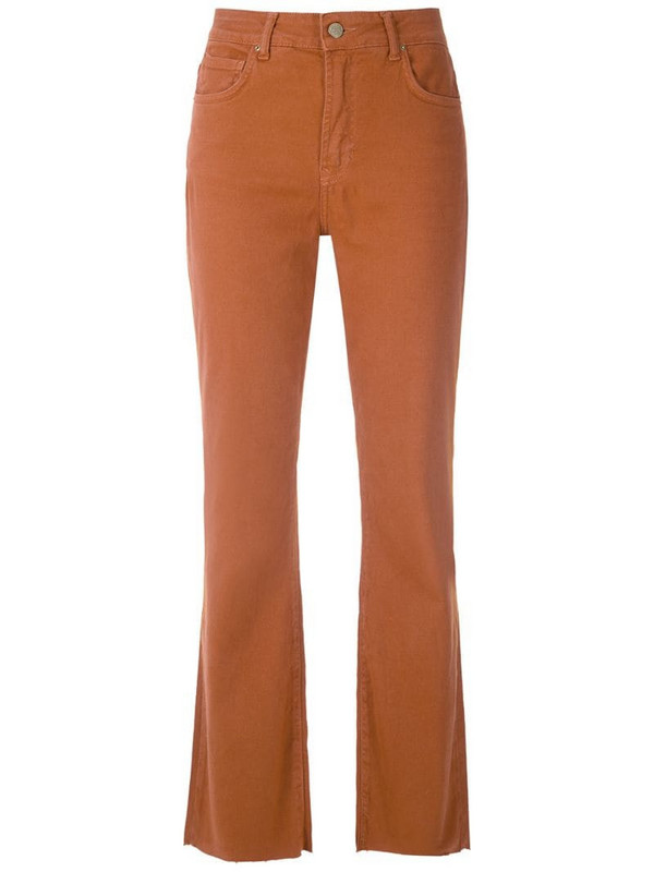 Eva cropped flared chino in brown