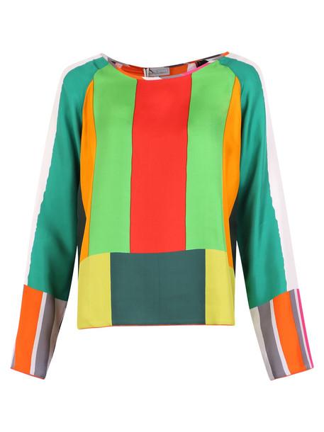 Pierre-Louis Mascia Color-block Blouse in multi
