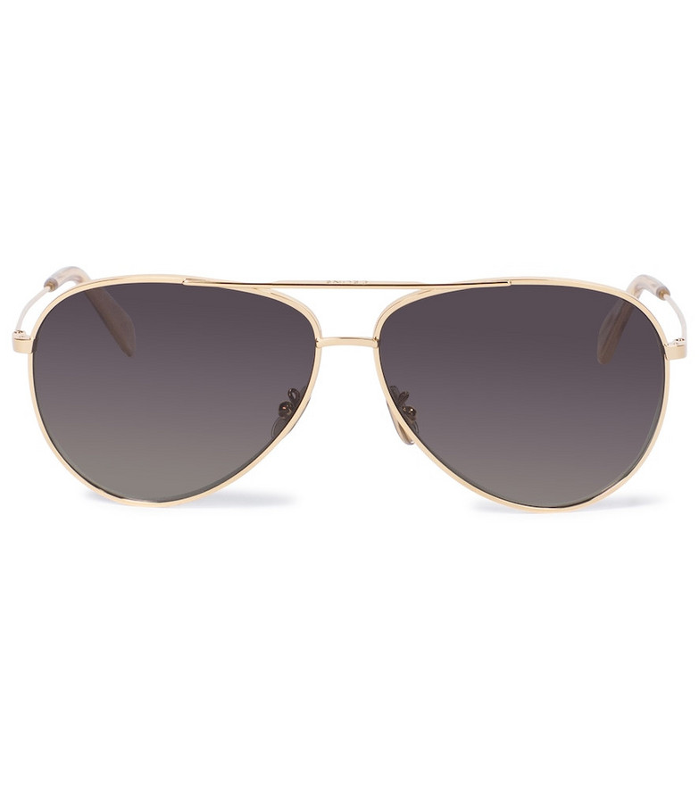 Celine Eyewear Aviator sunglasses with leather pouch in gold