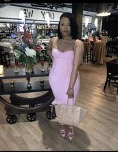 dress,pink,straps