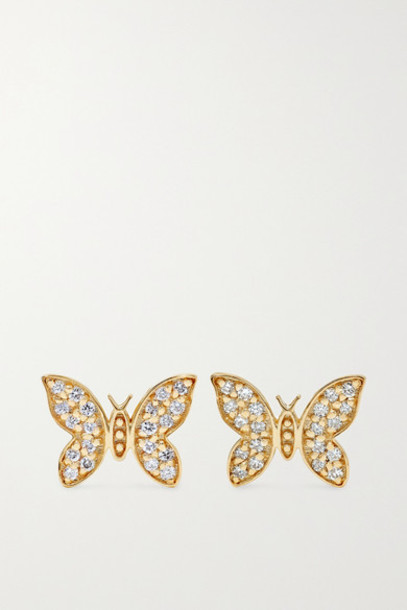 Sydney Evan - 14-karat Gold Diamond Earrings