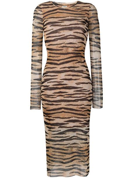 Baum Und Pferdgarten tiger print dress in brown