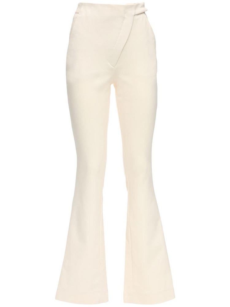 COPERNI Stretch Cotton Tailored Flared Pants in ivory