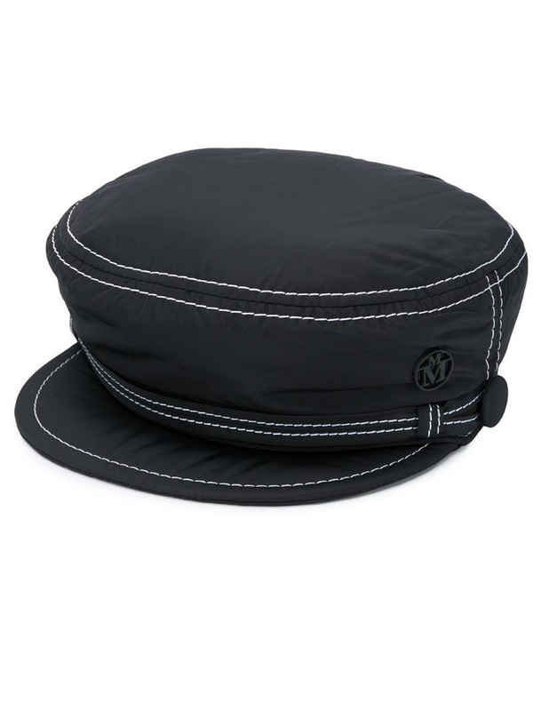 Maison Michel New Abby baker boy hat in black