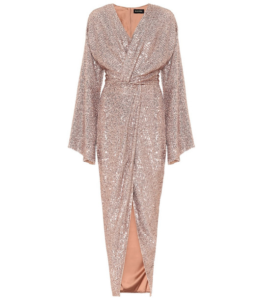 RASARIO Sequined gown in brown