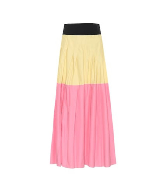 Plan C Pleated maxi skirt in pink