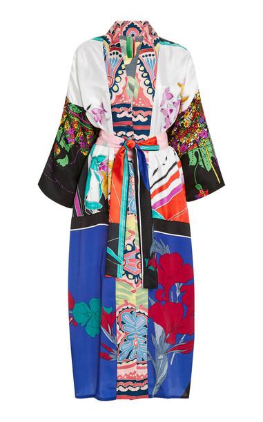 Rianna + Nina Printed Silk Kimono in multi