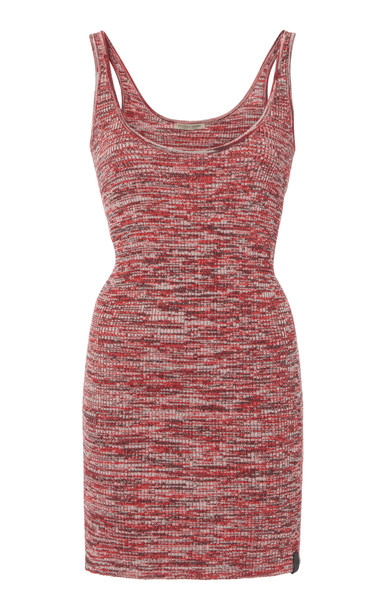 Bottega Veneta Marled Rib-Knit Cotton Tank Size: 40 in pink
