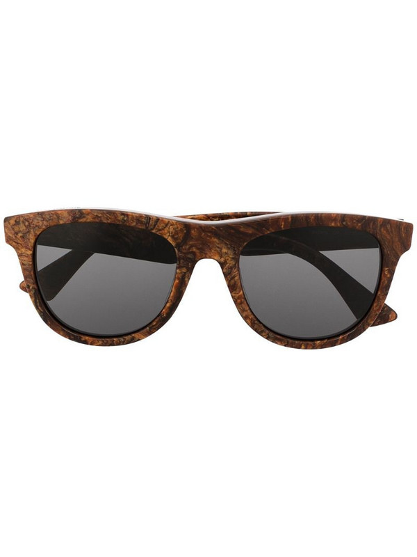 Bottega Veneta Eyewear round-frame sunglasses in brown