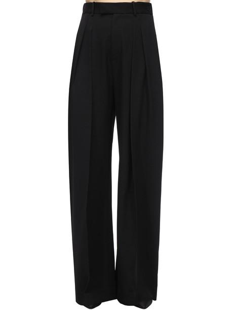 JW ANDERSON Wide Leg Wool Gabardine Pants in black