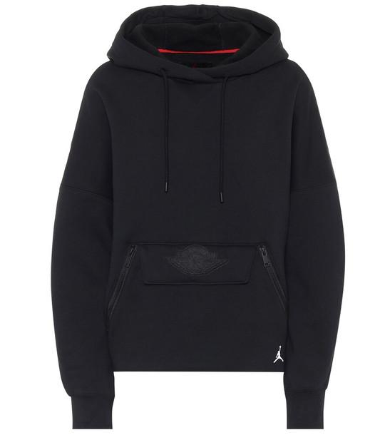 Nike Jordan cotton-blend hoodie in black
