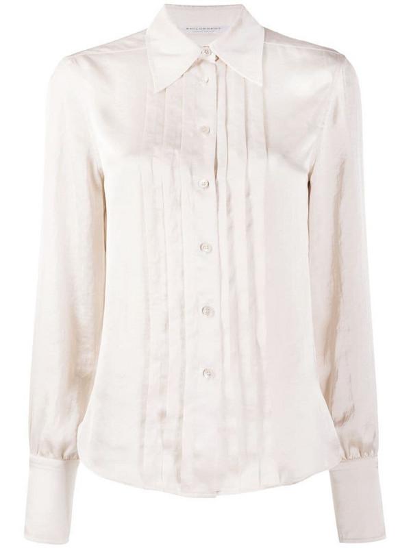 Philosophy Di Lorenzo Serafini pleat detail shirt in pink