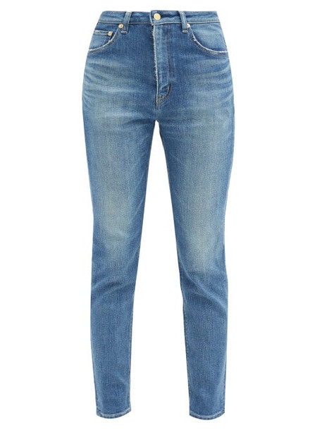 Tu es mon TRÉSOR Tu Es Mon Trésor - Sapphire High-rise Cotton Straight-leg Jeans - Womens - Denim