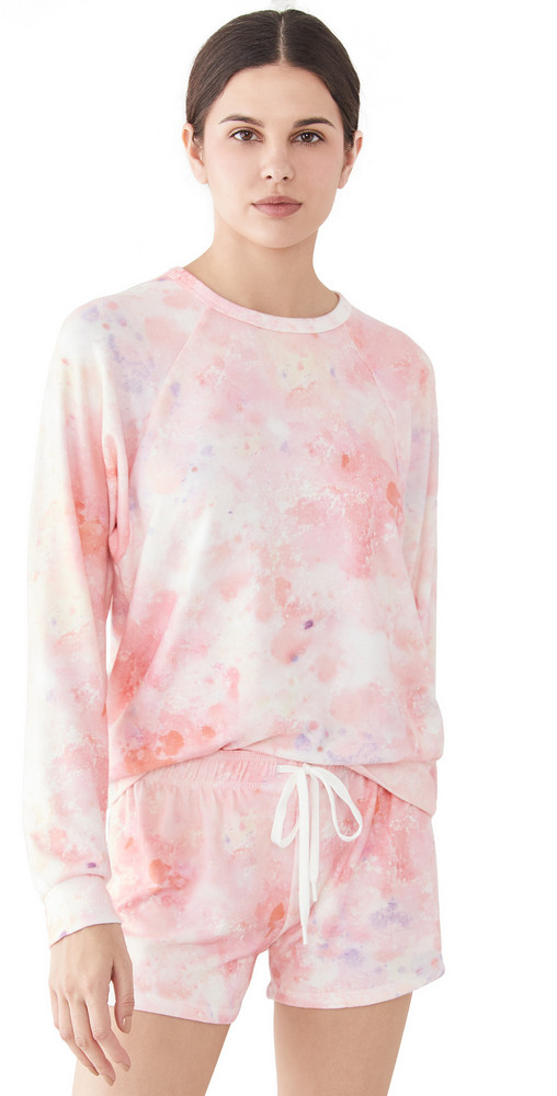 PJ Salvage Melting Crayons Pullover in coral