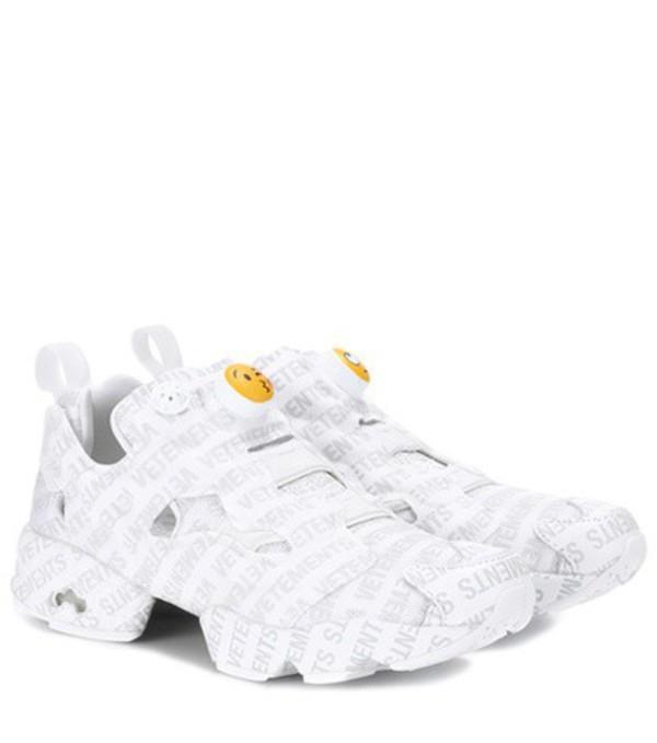 Vetements x Reebok Logo Instapump Fury sneakers in white