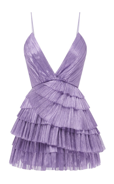 Alice McCall Don't Be Shy Pleated Shell Dress Size: 6 in purple
