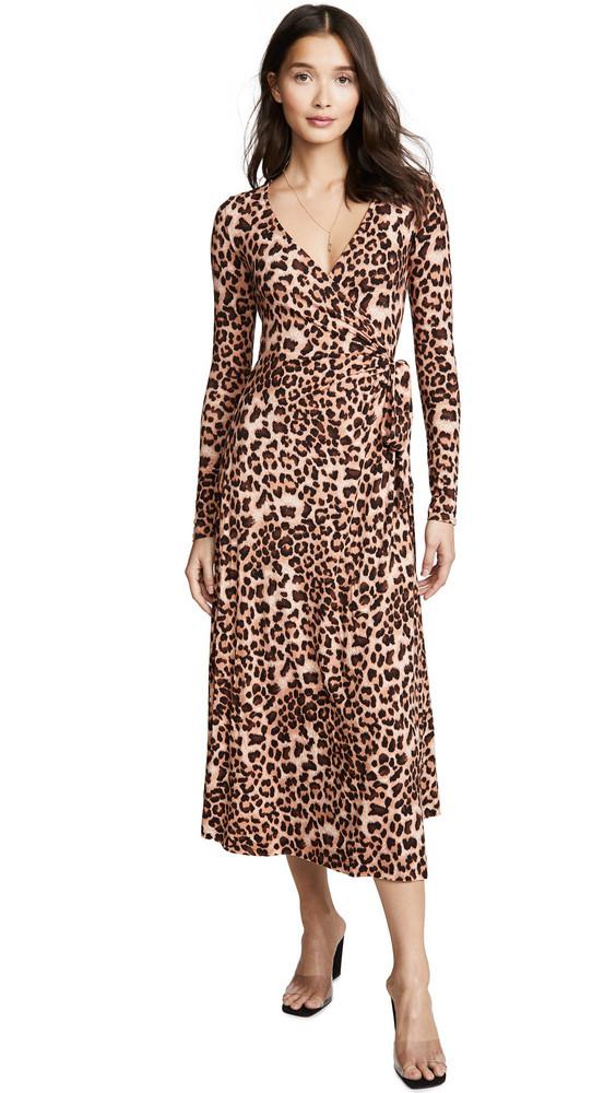 Rachel Pally Jersey Mid Length Harlow Dress in leopard