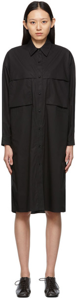 Lemaire Black Storm Flap Dress