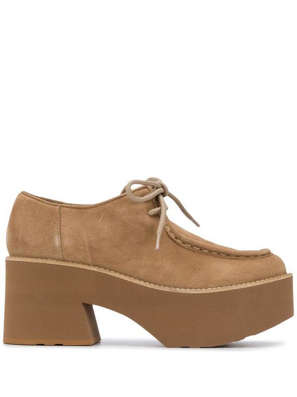 Paloma Barceló platform lace-up shoes in neutrals