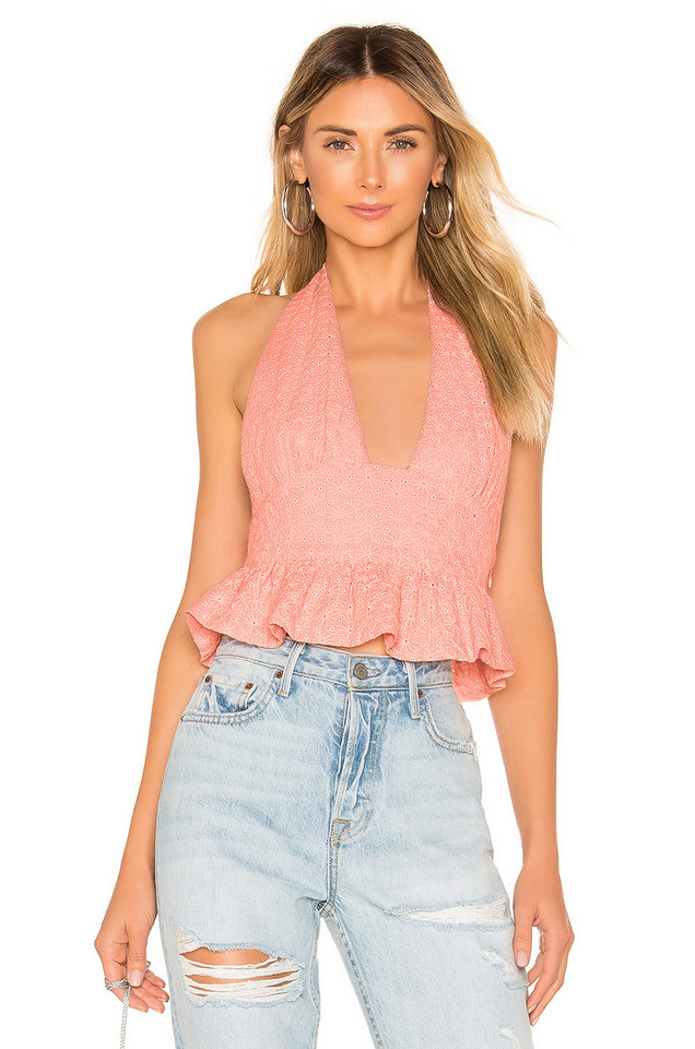 NBD Hazel Halter Top in pink