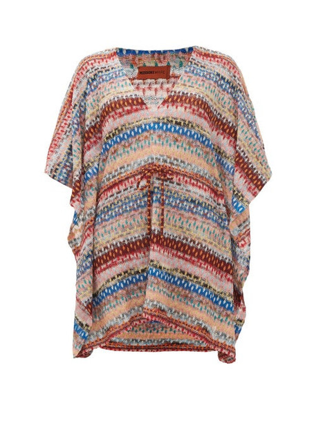 Missoni Mare - Metallic Knitted Kaftan - Womens - Multi