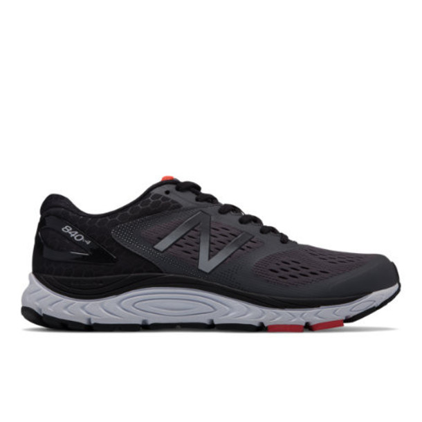New Balance 840v4 Men's Neutral Cushioned Shoes - Grey/Red (M840GR4)
