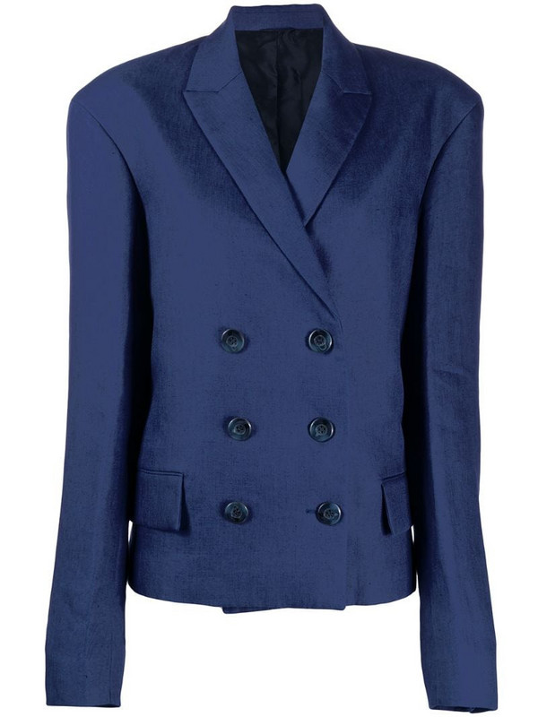 Jil Sander Pre-Owned 2017's double-breasted jacket in blue