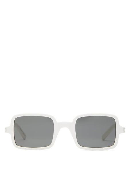 Saint Laurent - Square Acetate Sunglasses - Womens - White