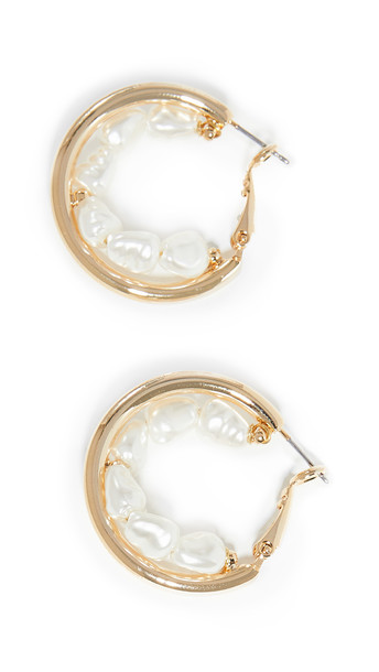 Shashi Supernova Earrings in gold