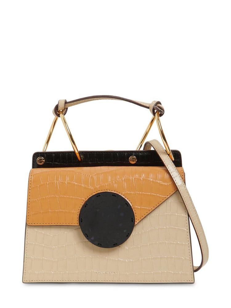 DANSE LENTE Phoebe Bis Croc Embossed Leather Bag in tan