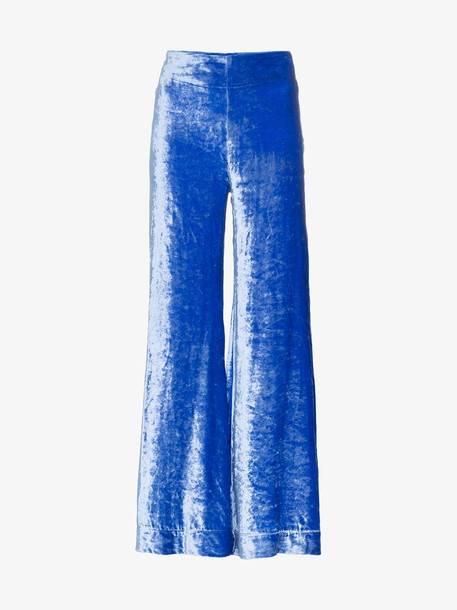 Deitas Venus velvet trousers in blue