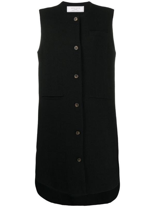 Société Anonyme sleeveless button down dress in black