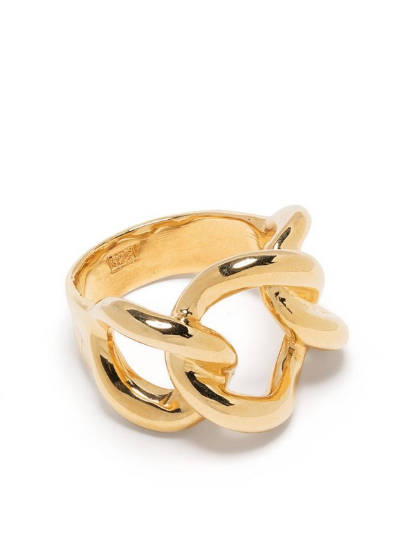 Isabel Lennse chainlink ring in gold