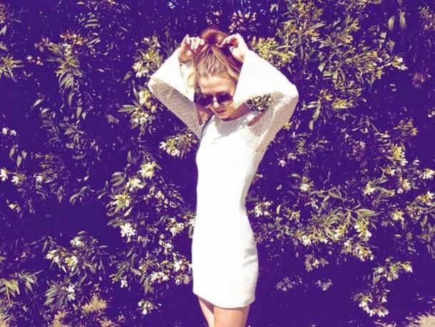 dress white dress boho dress long sleeve dress