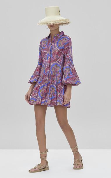 Alexis Zamata Cotton Mini Dress in multi