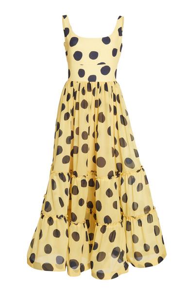 Leal Daccarett Mila Tiered Chiffon Dress in print