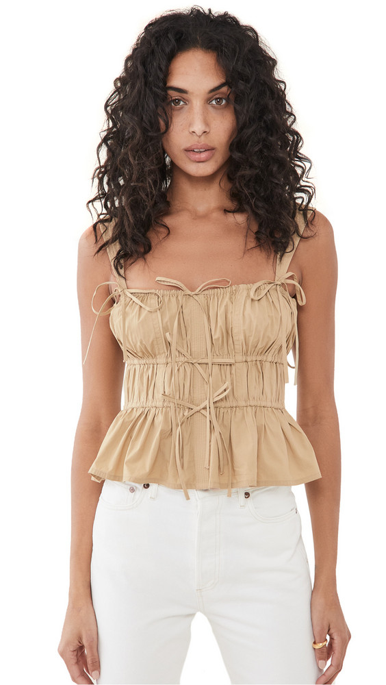 Ulla Johnson Lulu Tank in khaki