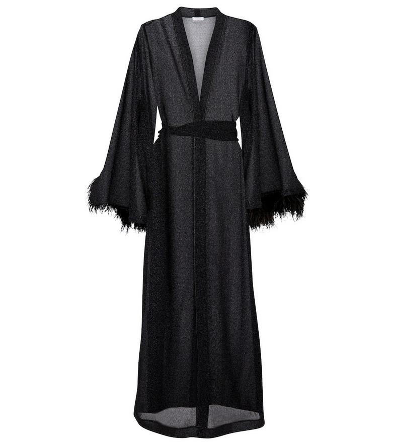 Oséree Lumière Plumage dress in black