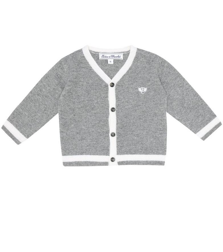 Tartine et Chocolat Baby cashmere cardigan in grey