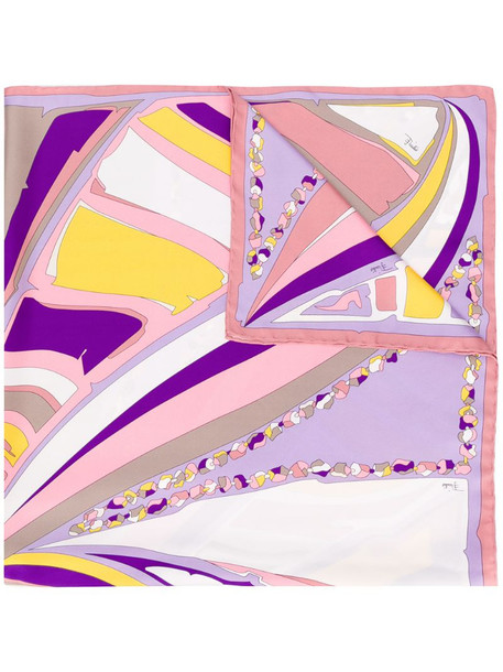 Emilio Pucci abstract print scarf in purple